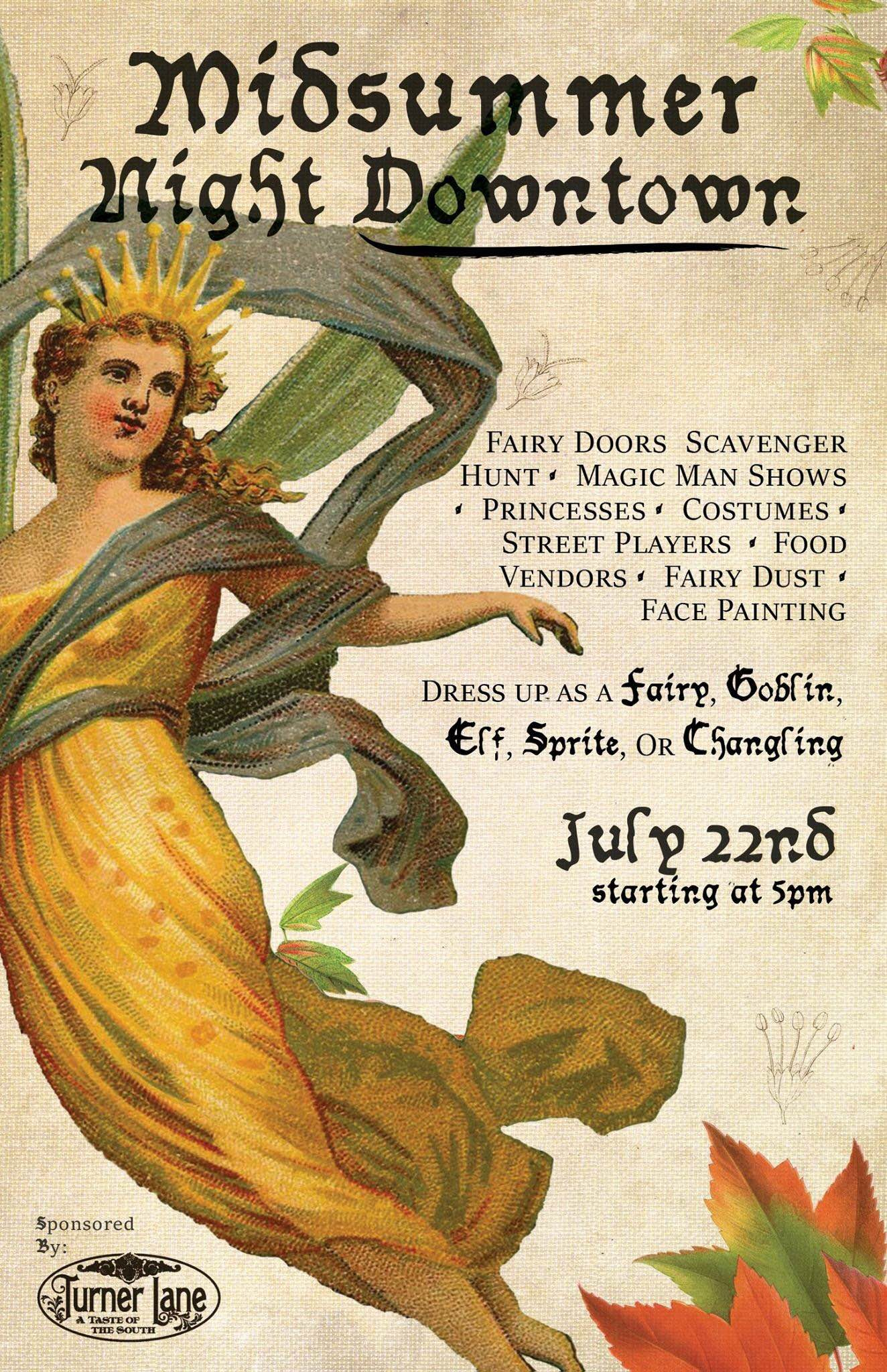 4th Friday - A Midsummer Night Downtown @ Downtown Fayetteville