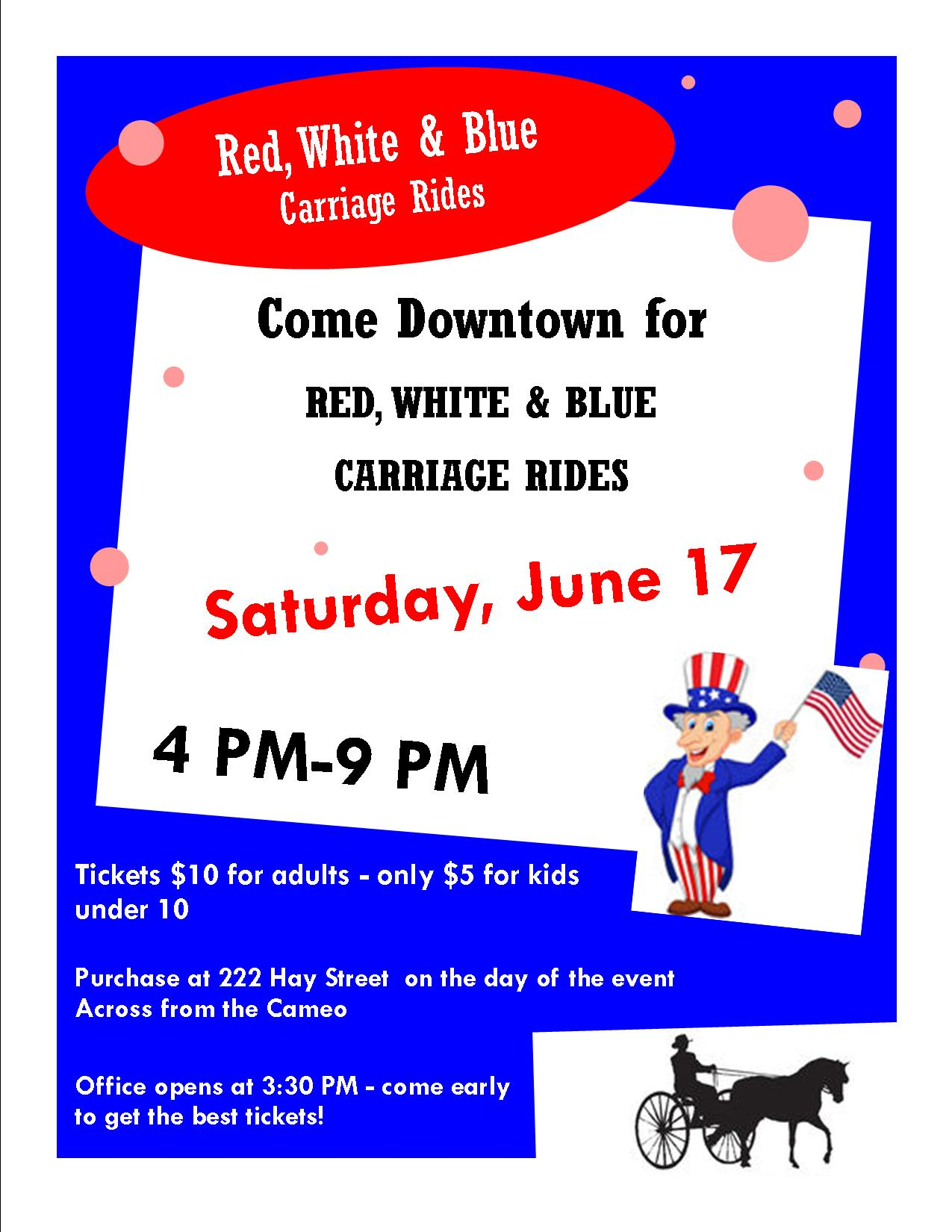 Red, White & Blue Carriage Rides @ Downtown Alliance Office | Fayetteville | North Carolina | United States